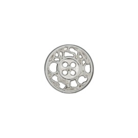 12 mm Cheverny metal button - silver