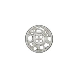Bouton métal ajouré Cheverny 12 mm - argent