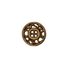 Bouton métal ajouré Cheverny 12 mm - bronze