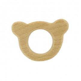 Anneau de dentition bois naturel bio - ours