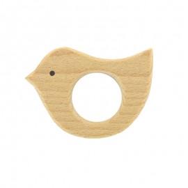 Organic natural wood teething ring - bird