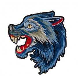 Large werewolf iron-on - blue