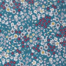 Tissu voile de coton Froufrou Les Fleuris - eucalyptus x10cm