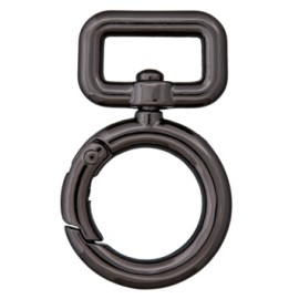 15 mm Lucy non locking carabiner - black