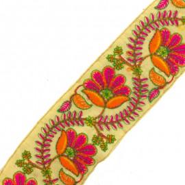 Ruban galon India Phool B - orange/fuchsia x 50cm
