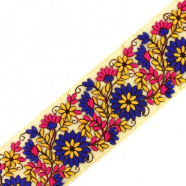 80 mm Chennai India trimming ribbon - blue x 50cm