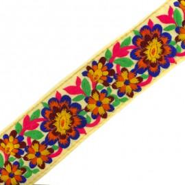 60 mm Kanpur India trimming ribbon - blue x 50cm