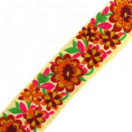 60 mm Kanpur India trimming ribbon - red  x 50cm