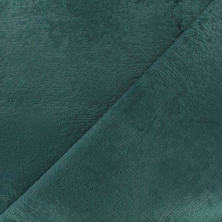 Velvet fabric - eucalyptus x 10cm