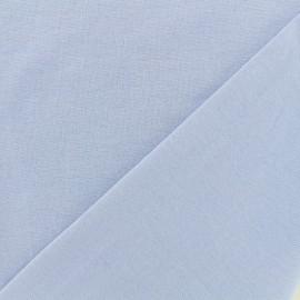 Knitted Jersey 1/1 tubular edging fabric - sky blue x 10cm