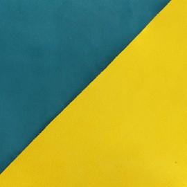 Tissu Suédine épaisse bicolore Alaska - canard/moutarde x 10cm