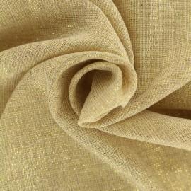 Tissu voile de polycoton Basicos lurex - naturel/doré x 10cm