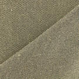 Tissu toile de jute polycoton - noir et naturel x 10cm