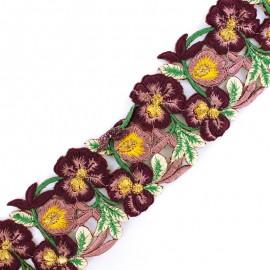 60 mm Pyaar Phool India guipure - dark purple  x 50cm