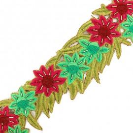 Guipure India Exotic 60 mm - vert x 50cm
