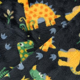 Tissu Doudou dino x 10 cm