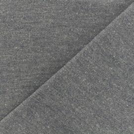 Flecked sweat fabric - charette blue x 10cm - Ma Petite Mercerie