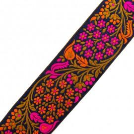 65 mm Bhopal India trimming ribbon - fuchsia x 50cm