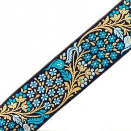 65 mm Bhopal India trimming ribbon - blue x 50cm