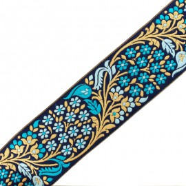 Galon India Bhopal 65 mm - bleu x 50cm