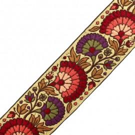 65 mm Surate India trimming ribbon - burgundy x 50cm