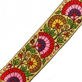 65 mm Surate India trimming ribbon - multi x 50cm
