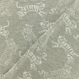 Tissu jersey ROAR - gris chiné  x 10cm