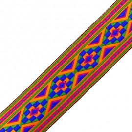 60 mm Aztec trimming ribbon - multi x 50cm