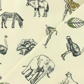 Tissu Oeko-Tex jersey en coton biologique - Safari - écru  x 10cm