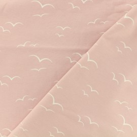 Tissu Oeko-Tex jersey Envol - rose x 10cm