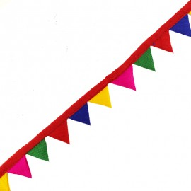 25 mm pennant ribbon - red x 50cm