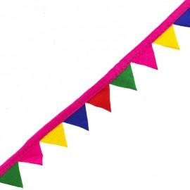 25 mm pennant ribbon - fuchsia x 50cm