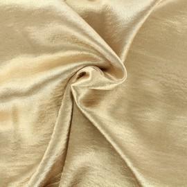 Tissu crepe satin - sable doré x 50cm