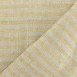 Linen Stripes cloth fabric - grey/taupe x 10cm