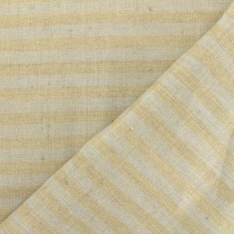 Tissu torchon lin Rayures - gris/taupe