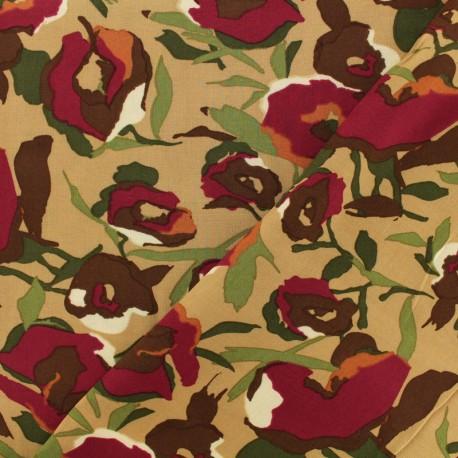 Viscose fabric Cocolicot - brown x 10 cm