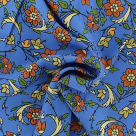 ♥ Coupon tissu 150 cm X 130 cm ♥ viscose Sarah - bleu