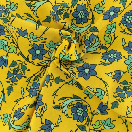 Viscose fabric Sarah - yellow x 10 cm