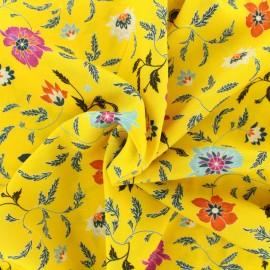 ♥ Coupon tissu 20 cm X 144 cm ♥ viscose Durga - jaune