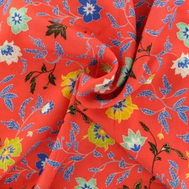 Viscose fabric Durga - red x 10 cm