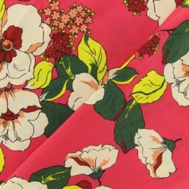 Tissu viscose Paulette - rouge x 10 cm