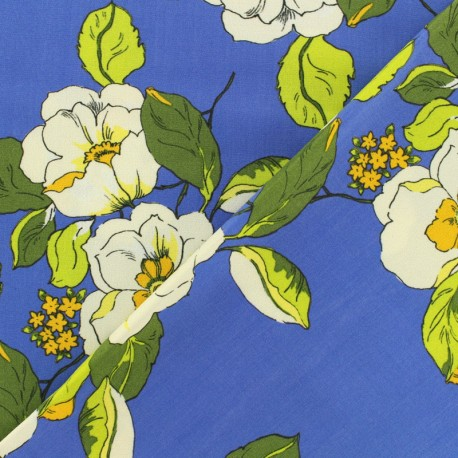 Viscose fabric Paulette - blue x 10 cm