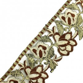 85 mm Patna iron-on guipure lace - brown/gold x 50cm