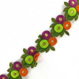 Guipure India thermocollante Fleur ronde C x 50cm