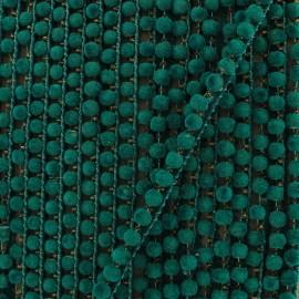 6 mm hardshell pompom India trim - turquoise  x 50cm