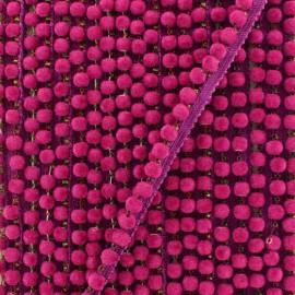 6 mm hardshell pompom India trim - fuchsia x 50cm
