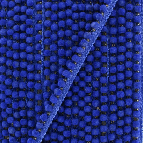 6 mm hardshell pompom India trim - royal blue x 50cm