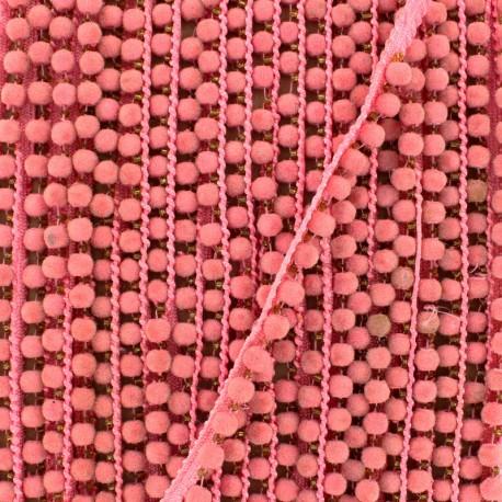 6 mm hardshell pompom India trim - pink x 50cm