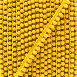 6 mm hardshell pompom India trim - yellow x 50cm