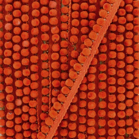 6 mm hardshell pompom India trim - orange x 50cm